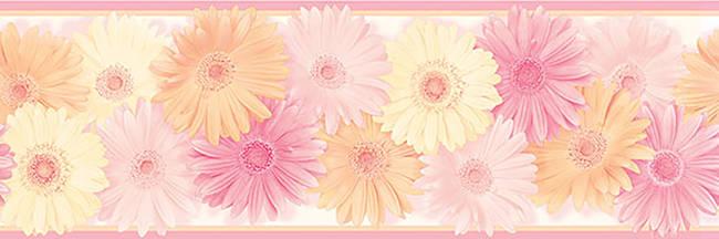 Becca Pink Daisy Chain Border HAS83242B