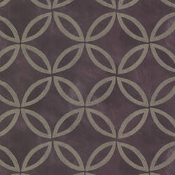 Cloverleaf Purple Geometric HZN43123