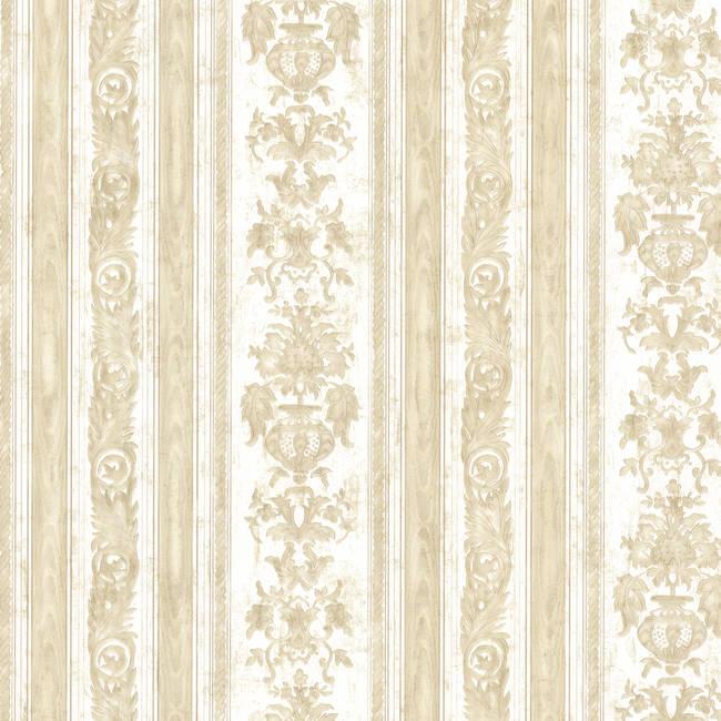 Majesty Beige Damask Stripe 991-68241