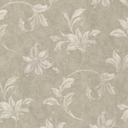 Palace Taupe Floral Scroll 991-68256