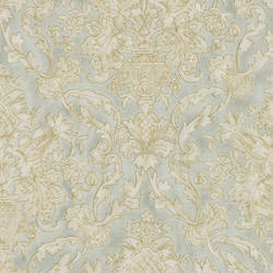 Majestic Mint Scrolling Damask 991-68247
