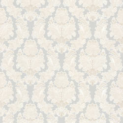 Capulet Light Grey Silk Damask 993-68610