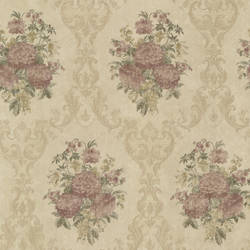 Dutchess Brass Floral Damask 991-68232