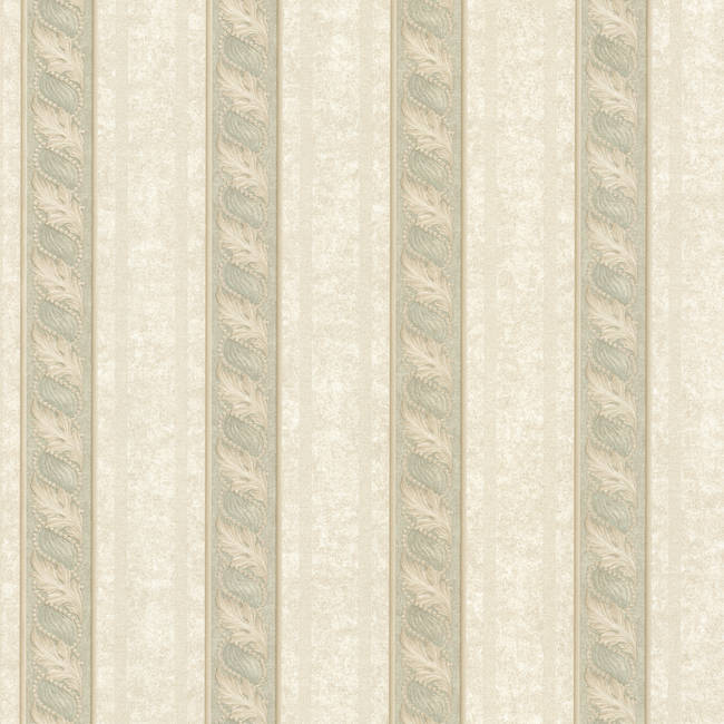 Montague Green Scroll Stripe 993-68608
