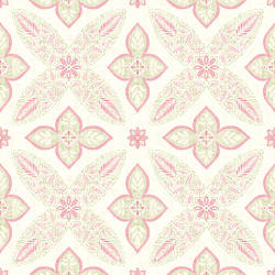 Off Beat Ethnic Pink Geometric Floral 1014-001826
