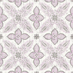 Off Beat Ethnic Violet Geometric Floral 1014-001827