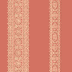 Brynn Coral Paisley Stripe 1014-001833