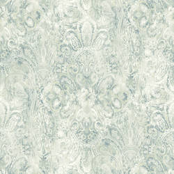 Mystique Blue Embellished Damask RW30902
