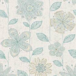 Maisie Teal Batik Flower 1014-001814