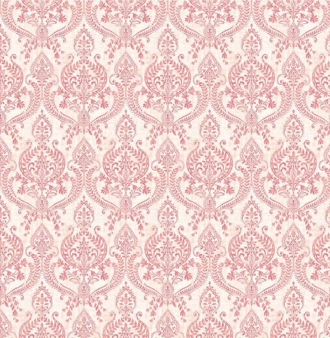 Waverly Red Petite Damask 1014-001816