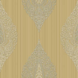 Taj Beige Damask Medallion Stripe RW30005