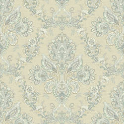 Kerala Cream Jacobean Damask RW31302