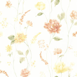 Hanne Yellow Floral Pattern 347-20104