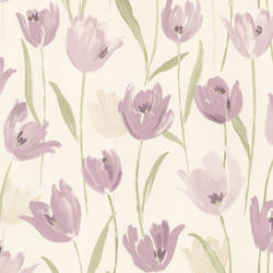 Finch Purple Hand Painted Tulips 347-20113
