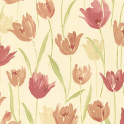 Finch Red Hand Painted Tulips 347-20114
