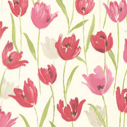 Finch Pink Hand Painted Tulips 347-20116