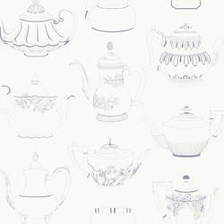 Valie Blue Vintage Teapot Texture 347-20119