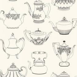 Valie Black Vintage Teapot Texture 347-20120