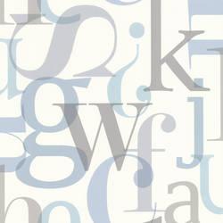 Angus Blue Vintage Letter Font 347-20138