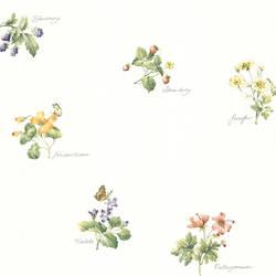 Sallis Green Floral Name Toss 347-28701