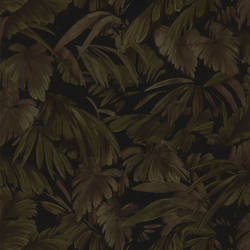 Raven Black Palm Tree Leaf Texture 347-42859