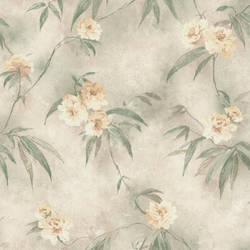 Segal Green Textured Floral Trail 347-44814