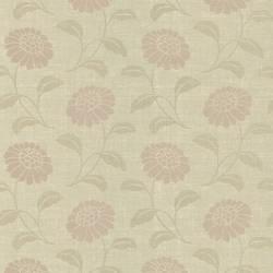 Peery Beige Modern Floral Silhouette 347-55664
