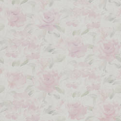 Stafford Pink Satin Floral 347-64837