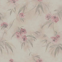 Segal Pink Textured Floral Trail 347-64873