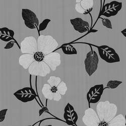 Sayles Black Modern Poppy Floral 347-67323