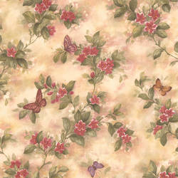 Mariposa Mauve Butterfly And Floral Trail 414-38574