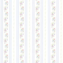 Princess Light Blue Floral Stripe 414-56031