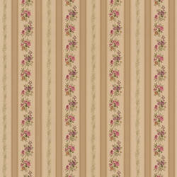 Princess Gold Floral Stripe 414-56032