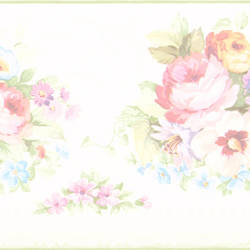 Vicky White Victorian Floral Border 414B61890