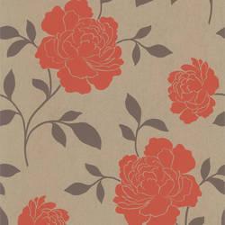 Clara Orange Floral Silhouette 301-66923