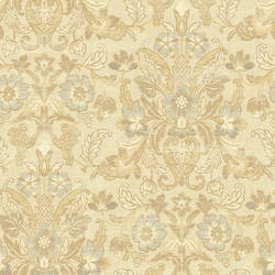 Salome Beige Floral Scroll NL12705