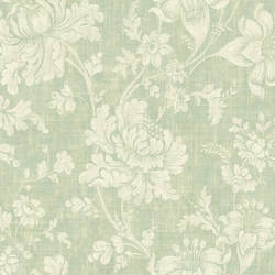 Zosel Light Green Jacobean Floral NL13004