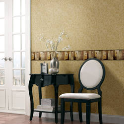 Bonnard Olive Colorblock Floral Border MEA24624B