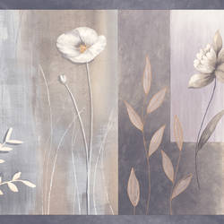 Bonnard Purple Colorblock Floral Border MEA24626B