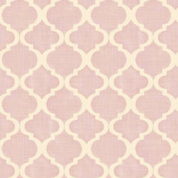 Tabitha Blush Watercolor Quatrefoil MEA79012