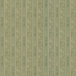 Lorenza Green Scroll Stripe 987-56507