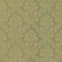 Monalisa Green Damask Fabric 987-56550