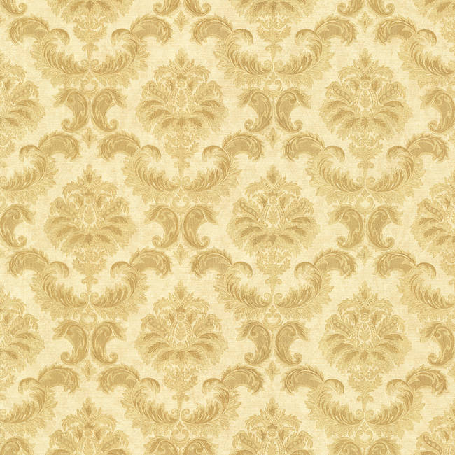 Louis Gold Damask 987-75328