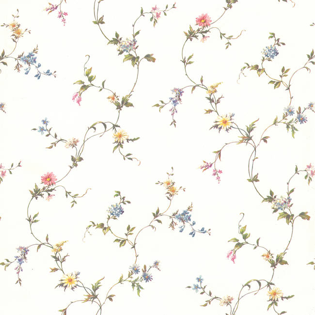 Abby White Floral Trail 418-60044