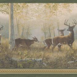 Wild Deer Border Green Deer Border 418B44341