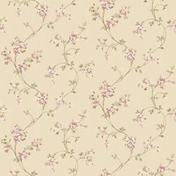 Laurel Pink Floral Trail Wallpaper HTM49526