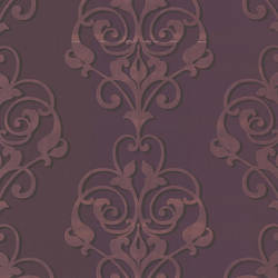 Aeneas Purple Modern Damask 493-ATB003