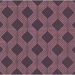 Alcaston Pink Geometric Ogee 493-ITB023