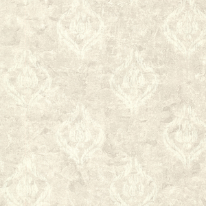 Benza Light Grey Small Textured Damask 672-20038