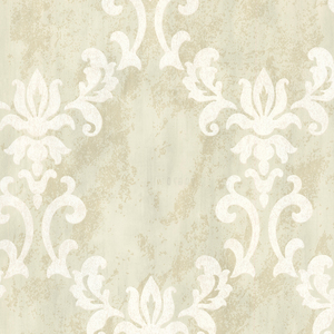 Renna Cream Large Scroll Damask 672-20071